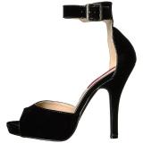 svart lakklær 12,5 cm EVE-02 store størrelser sandaler dame