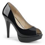 svart lakklær 13,5 cm CHLOE-01 store størrelser pumps sko