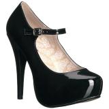 svart lakklær 13,5 cm CHLOE-02 store størrelser pumps sko
