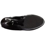 svart lakklær 18 cm ADORE-3050 lårhøye støvletter med høy hæl