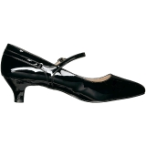 svart lakklær 5 cm FAB-425 store størrelser pumps sko
