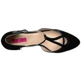 svart lakklær 5 cm FAB-428 store størrelser pumps sko