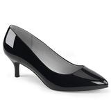 svart lakklær 6,5 cm KITTEN-01 store størrelser pumps sko