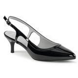 svart lakklær 6 cm KITTEN-02 store størrelser pumps sko
