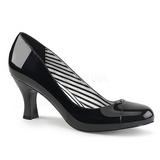 svart lakklær 7,5 cm JENNA-01 store størrelser pumps sko