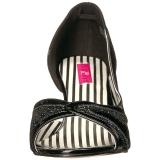 svart lakklær 7,5 cm JENNA-03 store størrelser pumps sko