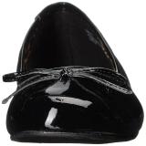svart lakklær ANNA-01 store størrelser ballerina sko