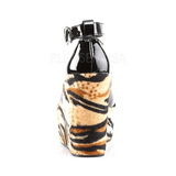 svart leopard 13 cm POISON-03 wedge pumps kilehæler sko