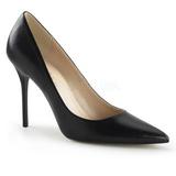 svart matt 10 cm CLASSIQUE-20 høye pumps damesko til menn