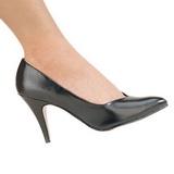 svart matt 10 cm DREAM-420 dame pumps sko flate hæl