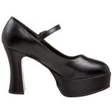 svart matt 11 cm MARYJANE-50 Mary Jane platå pumps høy hæl