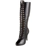 svart matt 12 cm ARENA-2020 høye dame støvler med snøring