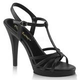 svart matt 12 cm FLAIR-420 dame sandaletter lavere hæl
