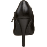 svart matt 12 cm rockabilly TEMPT-35 dame pumps med lave hæl