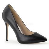 svart matt 13 cm AMUSE-20 dame pumps sko stiletthæl