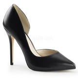 svart matt 13 cm AMUSE-22 klassiske pumps sko til dame