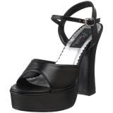 svart matt 13 cm DOLLY-09 high heels sko til menn