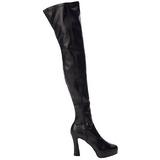 svart matt 13 cm ELECTRA-3000Z lårhøye støvler