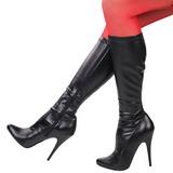 svart matt 13 cm SEDUCE-2000 høye damestøvler til menn