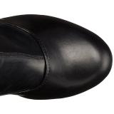 svart matt 15,5 cm DELIGHT-3000 lårhøye støvler