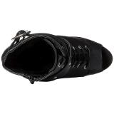 svart matt 15 cm DELIGHT-1033 platå ankelstøvletter åpen tå