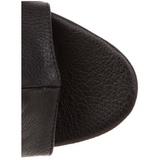svart matt 16,5 cm Pleaser ILLUSION-1018 platå ankel høye støvler