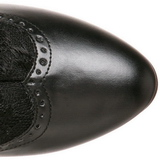 svart matt 5 cm FUNTASMA DAME-115 retro ankel høye støvler