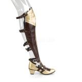 svart matt 6,5 cm MAIDEN-8830 cosplay lårhøye støvler