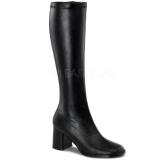 svart matt 7,5 cm Funtasma GOGO-300 høye støvler dame