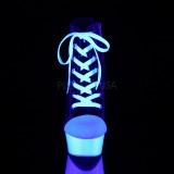 svart neon 15 cm DELIGHT-600SK-02 canvas joggesko med høye hæler
