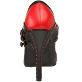 svart rød 11,5 cm rockabilly TEMPT-10 høye damesko med hæl