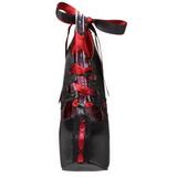 svart rød 14,5 cm Burlesque TEEZE-13 høye damesko med høy hæl