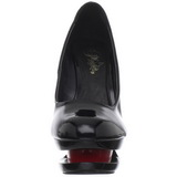 svart rød 15 cm BLONDIE-685 dame pumps sko stiletthæl