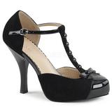 svart semsket 11,5 cm PINUP-02 store størrelser pumps sko