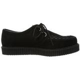 svart suede 2,5 cm CREEPER-602S platå creepers sko til menn