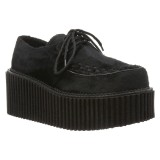 svarte 7,5 cm CREEPER-202 rockabilly creepers sko - dame platåsko