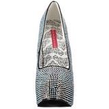 titan strass 14,5 cm Burlesque TEEZE-06R høye platform pumps sko