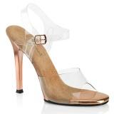 transparent 11,5 cm GALA-08 høye hæler poseringssko bikinifitness
