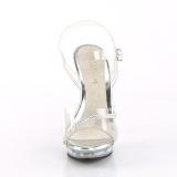 transparent 13 cm LIP-108R2 høye hæler poseringssko bikinifitness