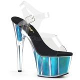 turkis 18 cm ADORE-708HGI hologram platå høye hæler dame