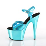 turkis 18 cm ADORE-709HGCH hologram platå høye hæler dame