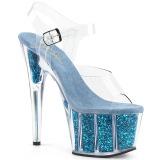 turkis glitter 18 cm Pleaser ADORE-708G pole dancing sko