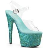 turkis glitter 18 cm Pleaser ADORE-708LG pole dancing sko