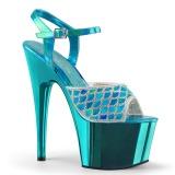turkis glitter 18 cm Pleaser ADORE-709MMRS pole dancing sandaler