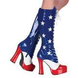 usa mønster 13 cm ELECTRA-2030 høye dame støvler med snøring