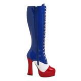 usa mønster 13 cm ELECTRA-2030 høye damestøvler til menn