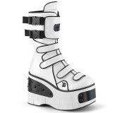 vegan 11,5 cm KERA-108 demonia alternative platåstøvler hvit