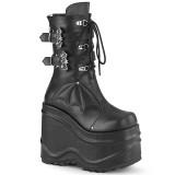 vegan 15 cm WAVE-150 demonia støvler med kilehæl