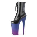 vegan 25,5 cm BEYOND-1020BP ekstremt ankelstøvletter høye hæler - platå støvletter