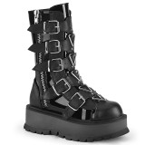 vegan 5 cm SLACKER-160 cyberpunk platåstøvler